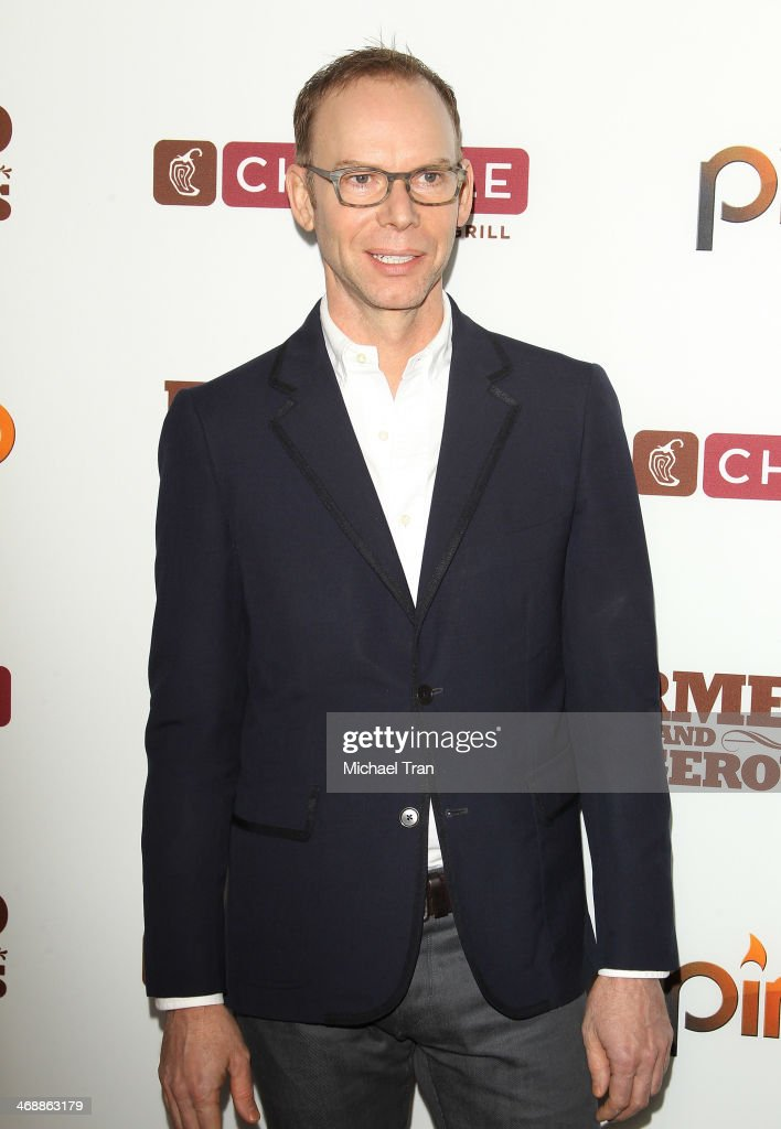 Steve Ells arrives at the Chipotle world premiere of original comedy web series 'Farmed And Dangerous' held at DGA Theater on February 11, 2014 in Los Angeles, California.