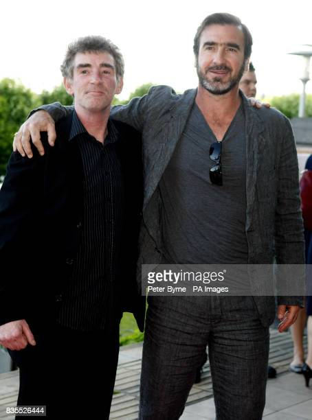 Steve Evets and Eric Cantona on the red carpet for the UK premiere of the film 'Looking for Eric' at the Vue Cinema Lowery Centre Manchester