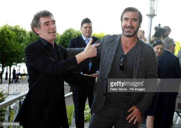 Steve Evetts and Eric Cantona on the red carpet for the UK premiere of the film 'Looking for Eric' at the Vue Cinema Lowery Centre Manchester