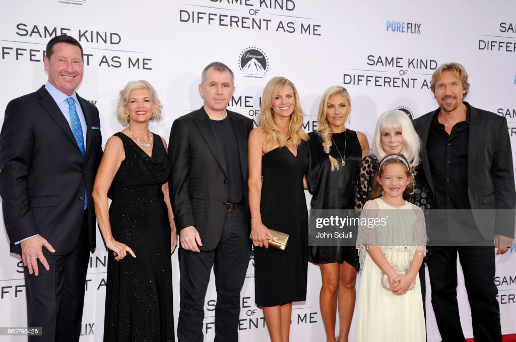 Steve Fedyski, COO Pure Flix, Tracy Fedyski, Jim Ameduri, Pure Flix Digital Partner , Alysoun Wolfe, Pure Flix Partner, Andrea Logan White, Liz Travis, Ellie, David A.R. White, Founder, Pure Flix attend Same Kind Of Different As Me Premiere on October 12, 2017 in Los Angeles, California.