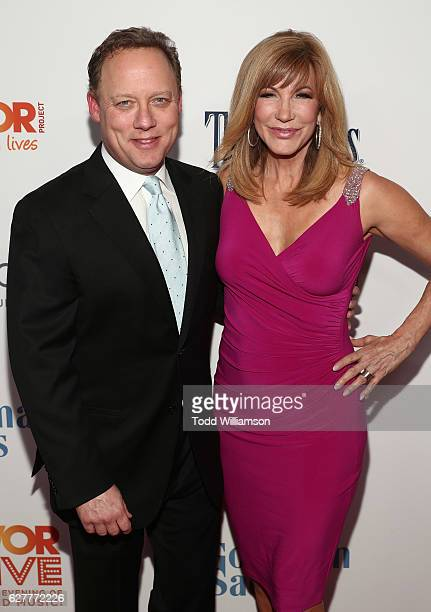 Steve Fenton and Leeza Gibbons attend the TrevorLIVE Los Angeles 2016 Fundraiser at The Beverly Hilton Hotel on December 4 2016 in Beverly Hills...