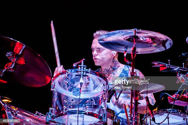 Steve Forrest of Placebo performs on stage at Arenal Sound 2014 on August 2 2014 in Barcelona Spain