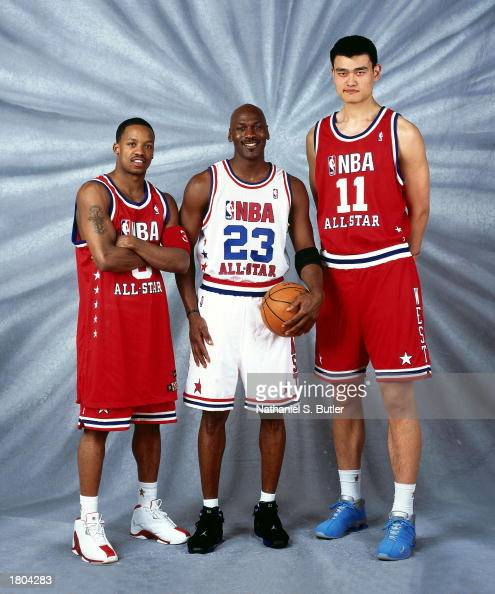 Francis, Jordan and Yao Ming pose for a portrait Pictures ...