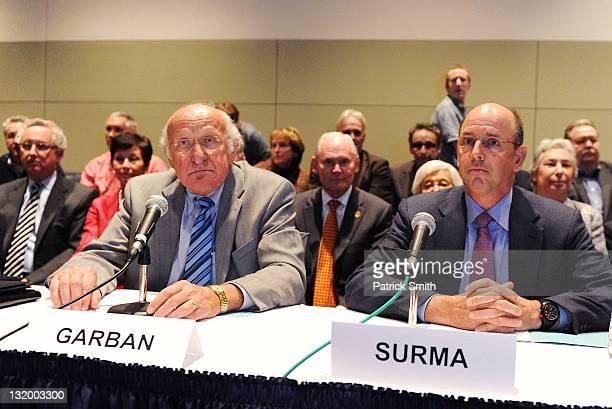 Steve Garban and John Surma announce that Penn State president Graham Spanier and football head coach Joe Paterno will leave the university...
