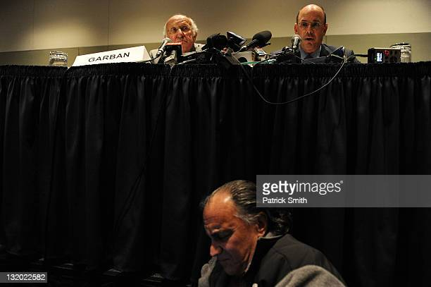 Steve Garban and John Surma announce that Penn State president Graham Spanier and football head coach Joe Paterno have been fired during the Penn...