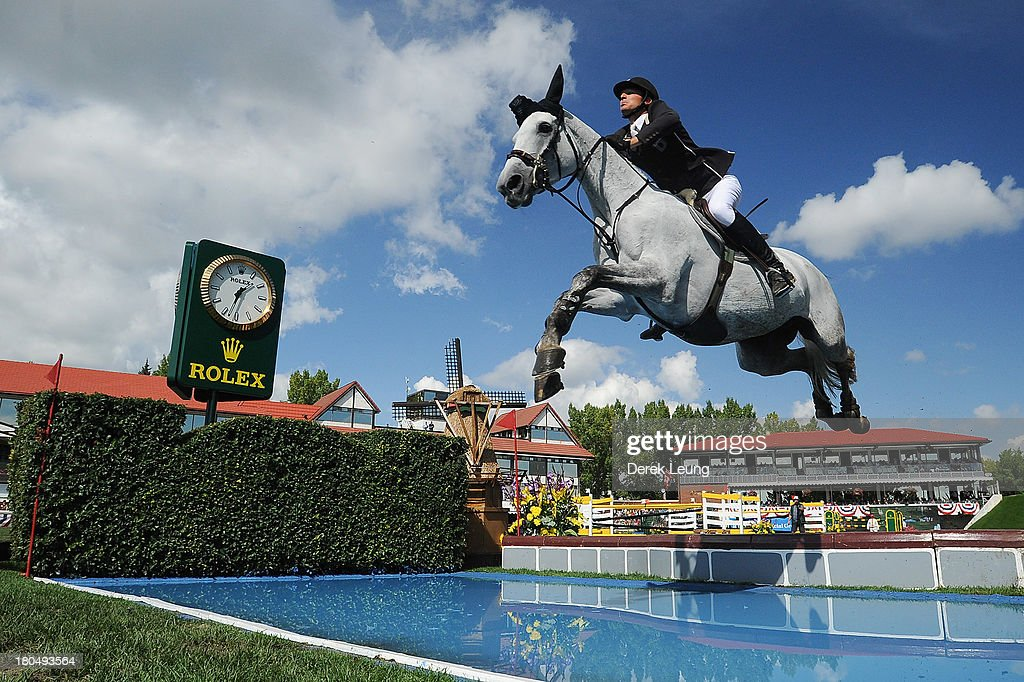<a gi-track='captionPersonalityLinkClicked' href=/galleries/search?phrase=Steve+Guerdat&family=editorial&specificpeople=2304249 ng-click='$event.stopPropagation()'>Steve Guerdat</a> of Switzerland riding Nasa competes in the individual jumping equestrian on the final day of the Masters tournament at Spruce Meadows on September 8, 2013 in Calgary, Alberta, Canada. Steve finished in 74.15 seconds with one fault.