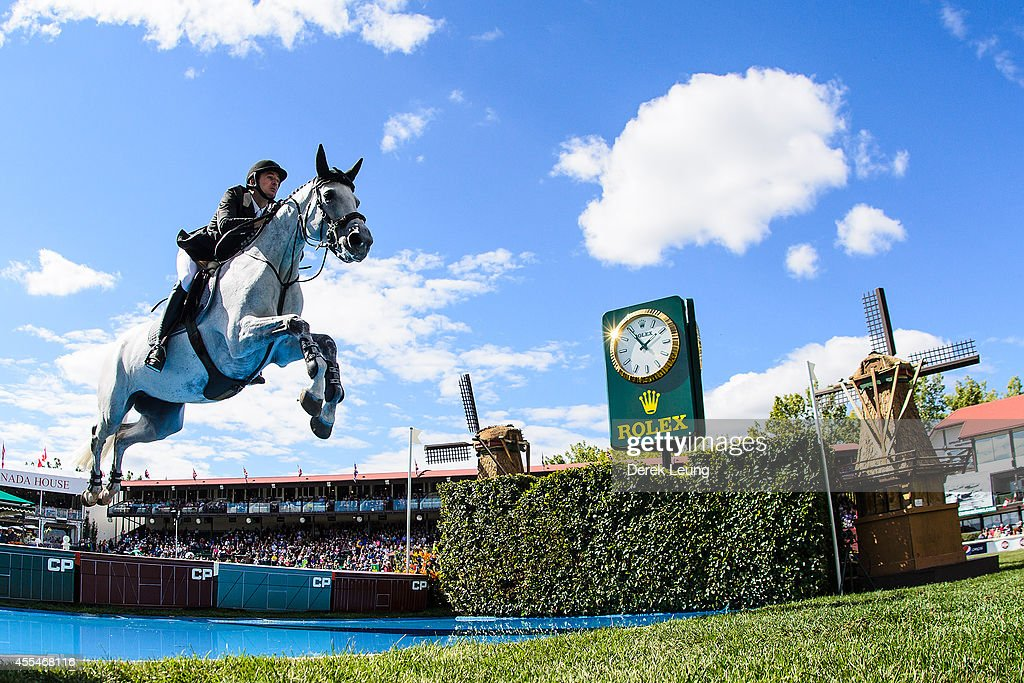 <a gi-track='captionPersonalityLinkClicked' href=/galleries/search?phrase=Steve+Guerdat&family=editorial&specificpeople=2304249 ng-click='$event.stopPropagation()'>Steve Guerdat</a> of Switzerland riding Nasa competes in the individual jumping equestrian on the final day of the Masters tournament at Spruce Meadows on September 14, 2014 in Calgary, Alberta, Canada.