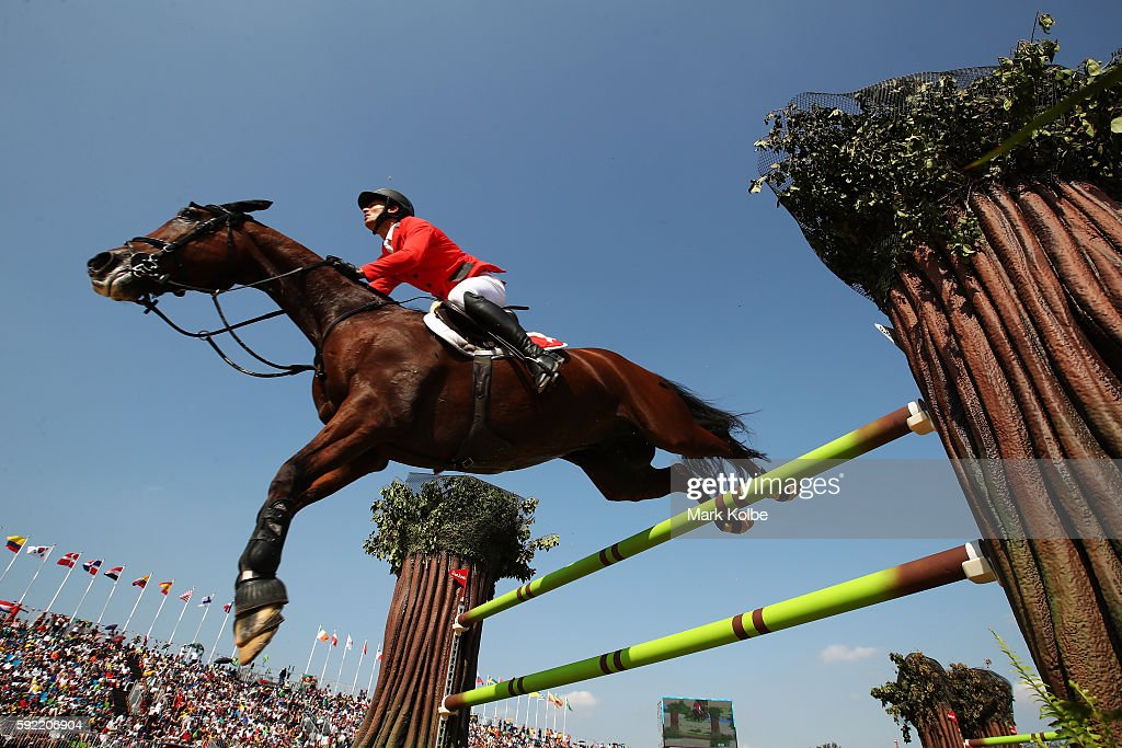 Steve Guerdat of Switzerland riding Nino Des Buissonnets competes during the Equestrian Jumping Individual Final Round on Day 14 of the Rio 2016 Olympic Games at the Olympic Equestrian Centre on August 19, 2016 in Rio de Janeiro, Brazil.