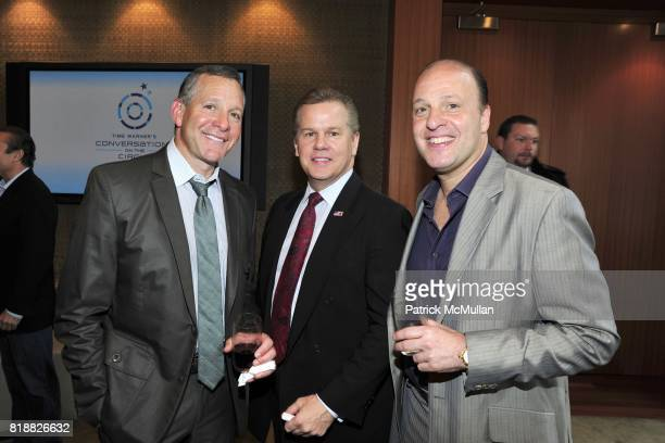 Steve Guttenberg Tomaczek Bednarek and Morris Levy attend One On One Conversation with Anderson Cooper and Dr Jack Kevorkian at Time Warner Center...
