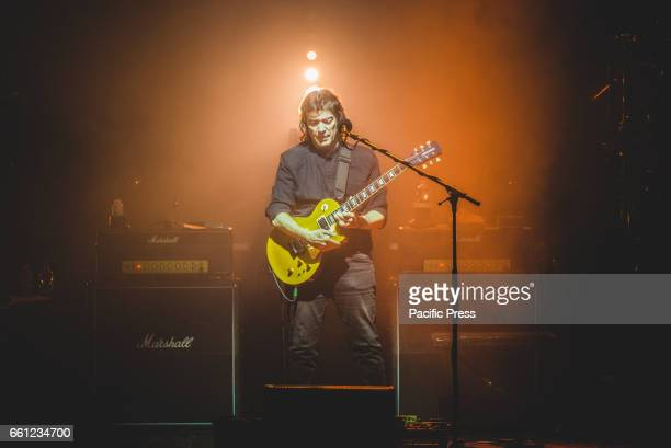 Steve Hackett performing live on stage at the Teatro Colosseo in Torino for his 'Genesis Revisited with Classic Hackett' tour 2017