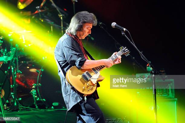 Steve Hackett performs on stage at Hammersmith Apollo on May 10 2013 in London England
