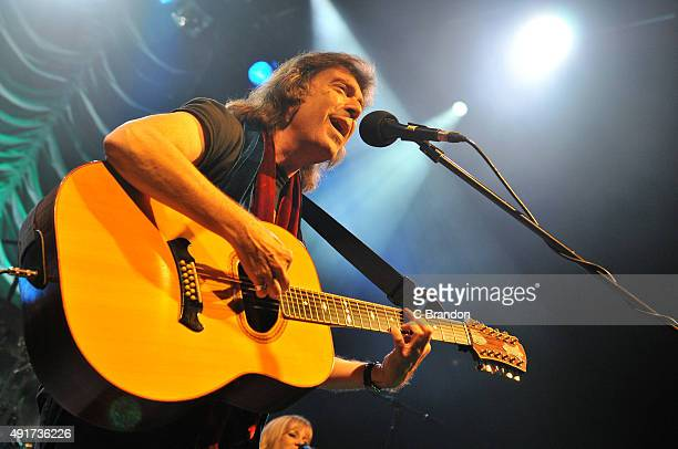 Steve Hackett performs on stage at the O2 Shepherd's Bush Empire on October 7 2015 in London England