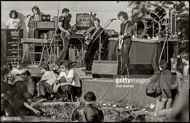 Steve Harley and Cockney Rebel perform on stage at The Crystal Palace Garden Party 7th June 1975