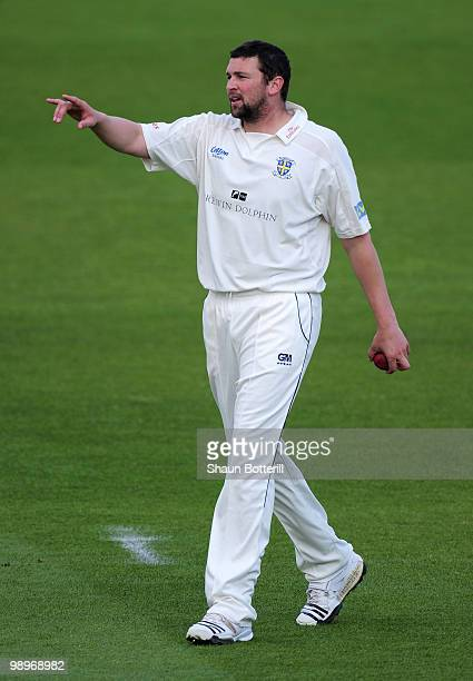 Steve Harmison of Durham during the LV County Championship match between Nottinghamshire and Durham at Trent Bridge on May 11 2010 in Nottingham...