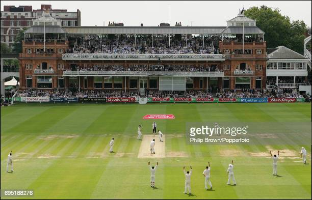 KINGDOM JULY 21 Steve Harmison of England traps Jason Gillespie of Australia lbw and Australia are all out for 190 during the 1st Ashes Test match...