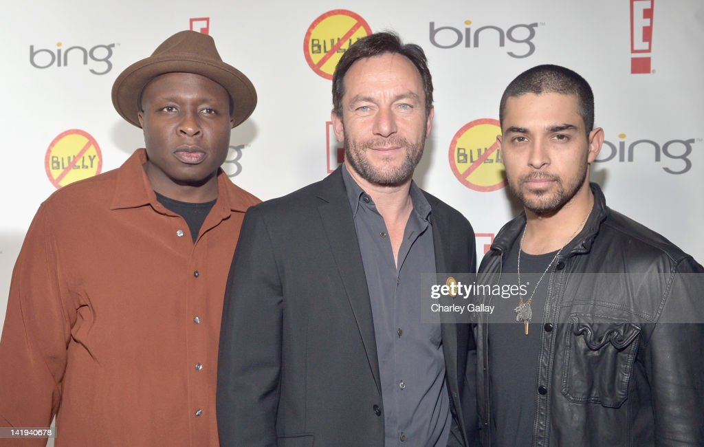 Steve Harris, Jason Isaacs and Wilmer Valderrama arrive at the Los Angeles Premiere of 'Bully' at Mann Chinese 6 on March 26, 2012 in Los Angeles, California.