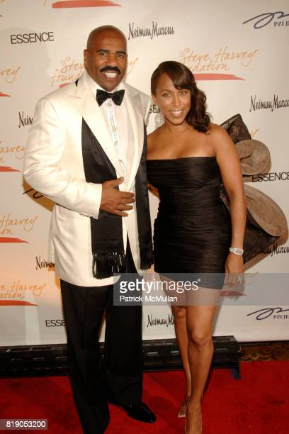 Steve Harvey and Marjorie Harvey attend The 1st Annual STEVE HARVEY FOUNDATION Gala at Cipriani Wall Street on May 3 2010 in New York City
