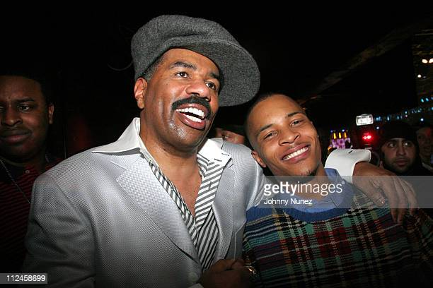 Steve Harvey and TI during BET Presents 'Rip The Runway' Show and Inside at Roseland Ballroom in New York City New York United States