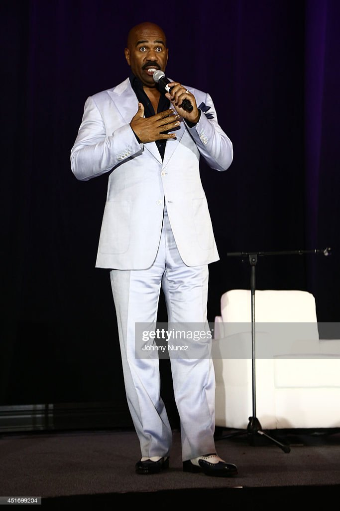 Steve Harvey attends the 2014 Essence Music Festival on July 4 2014 in New Orleans Louisiana