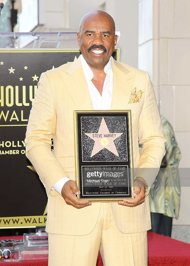 Steve Harvey attends the ceremony honoring him with a Star on The Hollywood Walk of Fame held on May 13, 2013 in Hollywood, California.