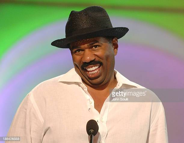 Steve Harvey during 2005 BET Awards Rehearsals Day Two at Kodak Theatre in Hollywood California United States