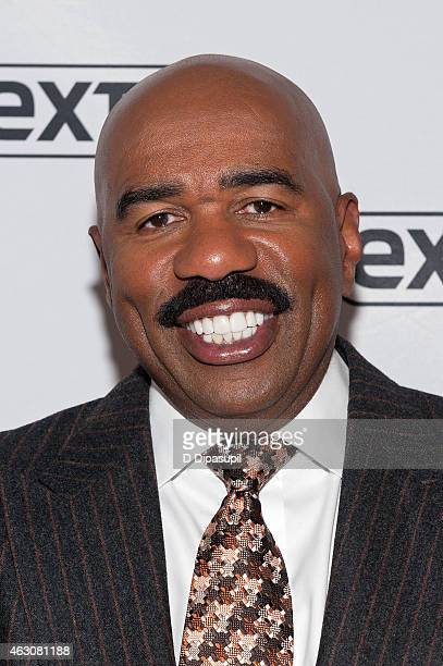 Steve Harvey visits 'Extra' at their New York studios at HM in Times Square on February 9 2015 in New York City
