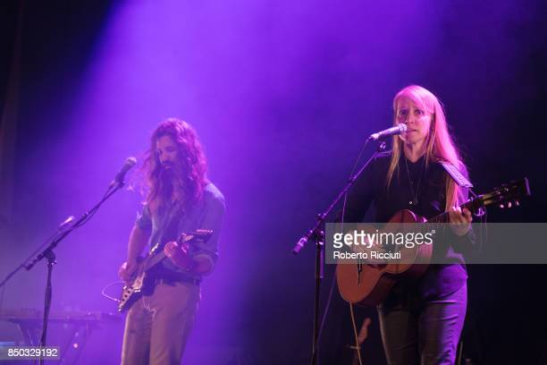 Steve Hassett and Zoe Randell of Australian indie folk music duo Luluc perform live on stage at Usher Hall on September 20 2017 in Edinburgh Scotland