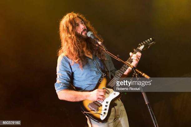Steve Hassett of Australian indie folk music duo Luluc performs live on stage at Usher Hall on September 20 2017 in Edinburgh Scotland