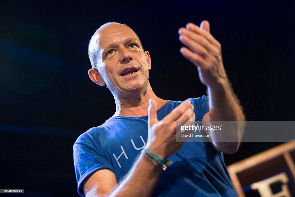 Steve Hilton, Stanford academic and former political advisor, at the Hay Festival, on May 28, 2016 in Hay-on-Wye, Wales.