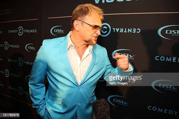 Steve Hofmeyer attends the Comedy Central Roast of Steve Hofmeyer at the Lyric Theatre Gold Reef City on September 11 2012 in Johannesburg South...