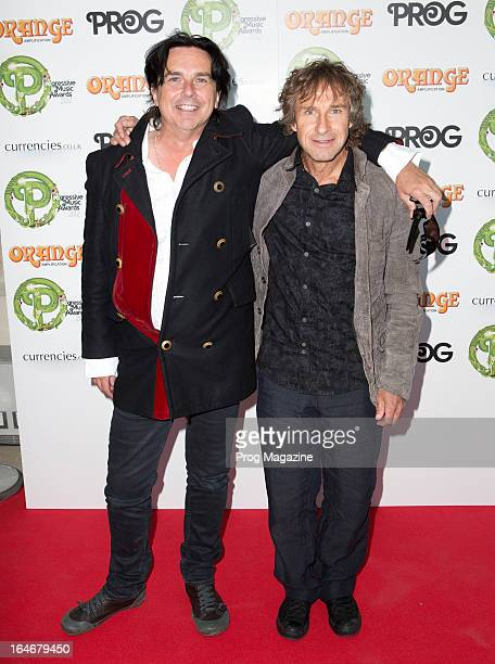 Steve Hogarth and Pete Trewavas of British progressive rock band Marillion photographed during the Progressive Music Awards at Kew Gardens September...