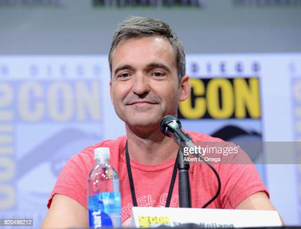 Steve Holland speaks onstage at ComicCon International 2017 'The Big Bang Theory' panel at San Diego Convention Center on July 21 2017 in San Diego...