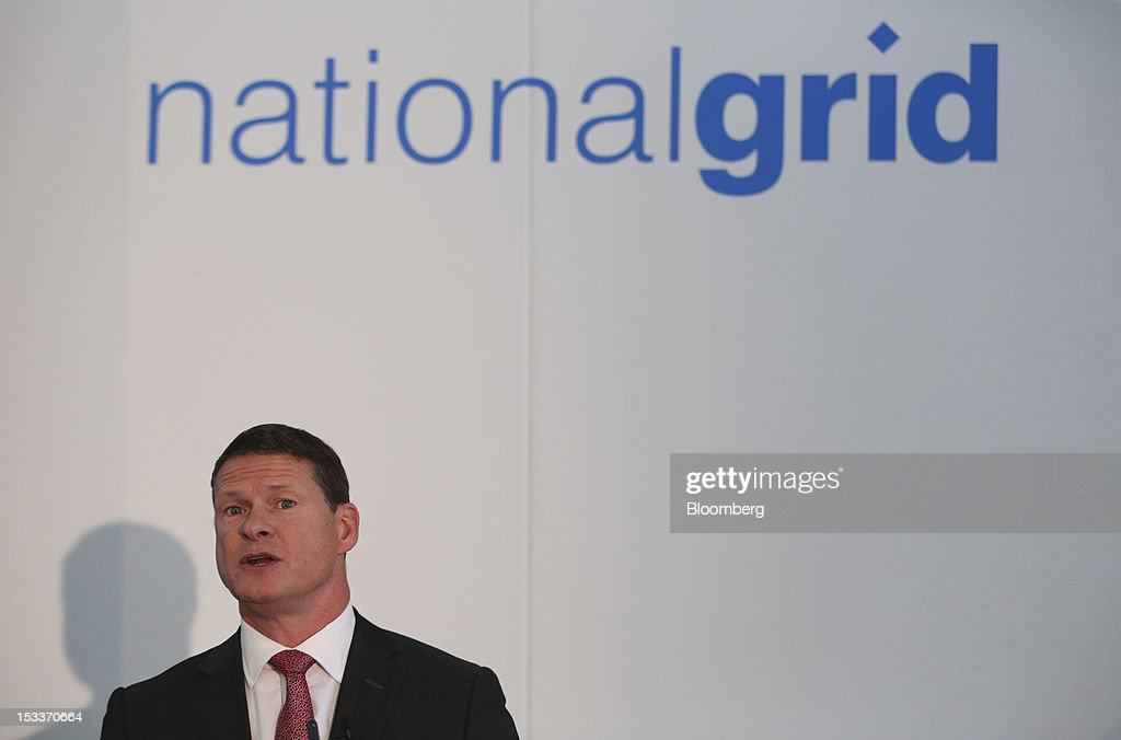 Steve Holliday, chief executive officer of National Grid Plc, speaks during a news conference following the opening of a joint venture with EON AG, on the Isle of Grain, U.K., on Thursday, Oct. 4, 2012. The National Grid Plc and E.ON have worked together to link two plants with twin pipelines, allowing surplus heat from electricity generation at E.O's power station to heat LNG and convert it back to gas. Photographer: Chris Ratcliffe/Bloomberg via Getty Images