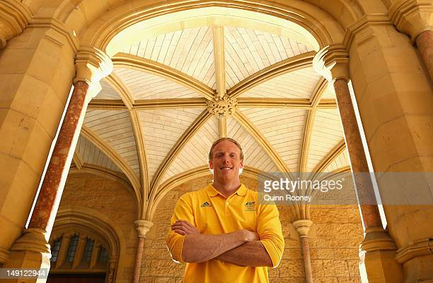 Steve Hooker of Australia poses during an Athletics Australia Olympic Media Day at Tonbridge Training Camp 2012 in Tonbridge England
