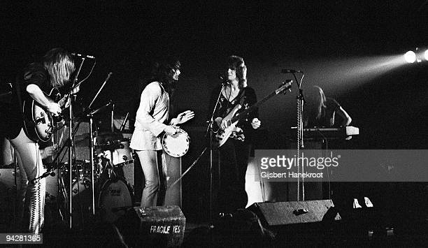 Steve Howe Jon Anderson Chris Squire and Rick Wakeman of Yes perform on stage at De Doelen on January 23rd 1972 in Rotterdam Netherlands