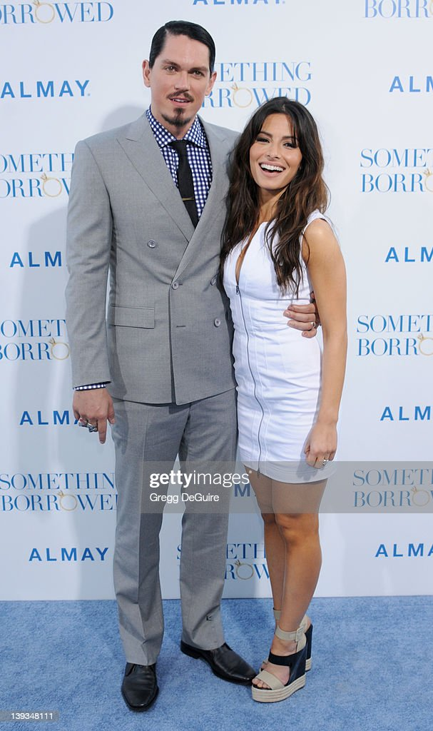 Steve Howey and Sarah Shahi arrive at the World Premiere of 'Something Borrowed' at the Grauman's Chinese Theater on May 3 2011 in Hollywood...
