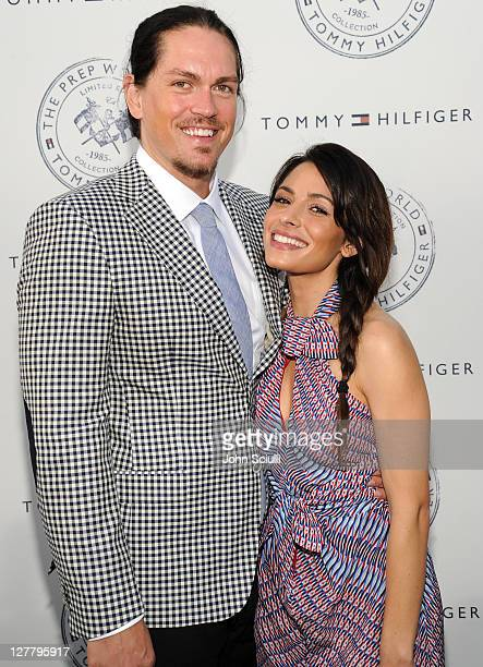 Steve Howey and Sarah Shahi arrive for Tommy Hilfiger and Lisa Birnbach Celebration of Prep World on June 9 2011 in Los Angeles California