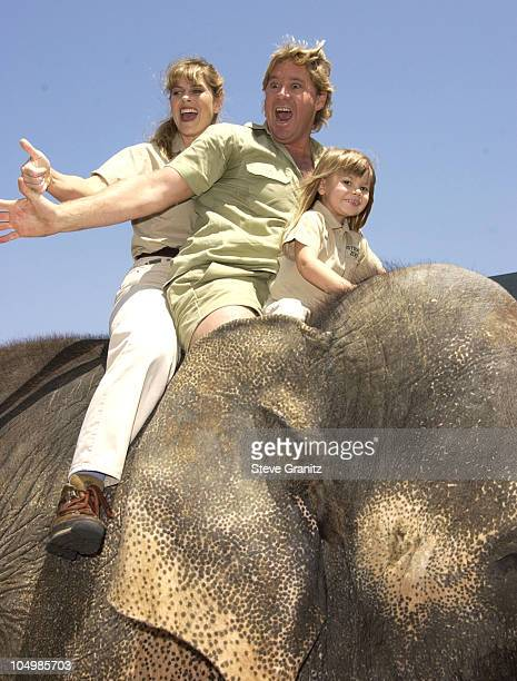 Steve Irwin Terri Irwin daughter Bindi Irwin during 'The Crocodile Hunter Collision Course' Premiere at Arclight Cinerama Dome in Hollywood...