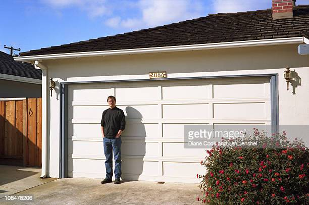 Steve Jobs along with Steve Wozniak cofounded Apple in 1976 in the Jobs' family garage in Los Altos California Pictured here in 1996 in front of that...