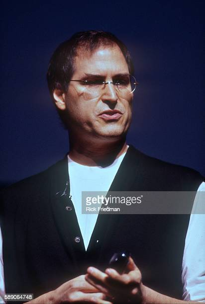 Steve Jobs Apple Inc's CEO speaking at Mac World in Boston MA in 1997