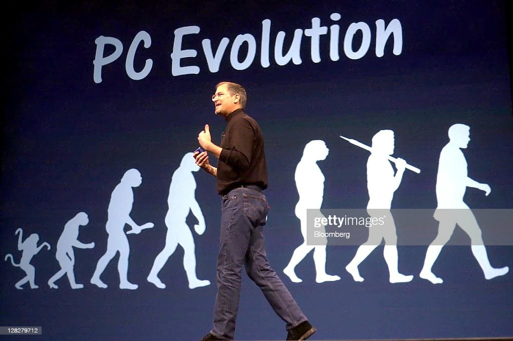 <a gi-track='captionPersonalityLinkClicked' href=/galleries/search?phrase=Steve+Jobs&family=editorial&specificpeople=204493 ng-click='$event.stopPropagation()'>Steve Jobs</a>, chief executive officer and co-founder of Apple Inc., speaks at MacWorld 2001 in San Francisco, California on Tuesday, January, 9, 2001. Jobs, who built the world's most valuable technology company by creating devices that changed how people use electronics and revolutionized the computer, music and mobile-phone industries, died Wednesday, Oct. 5, 2011. He was 56. Photographer: Justin Sullivan/Bloomberg via Getty Images