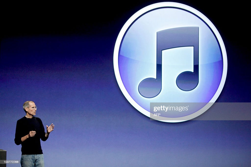 Steve Jobs, chief executive officer of Apple Inc., announces the release of new upgrades in the iPod Nano, iPod Shuffle, iPod Touch, and iTunes at a press conference in San Francisco, California, on Wednesday, September 1, 2010. Jobs also announced the release of the new iTV which replaces the larger, more expensive Apple TV.