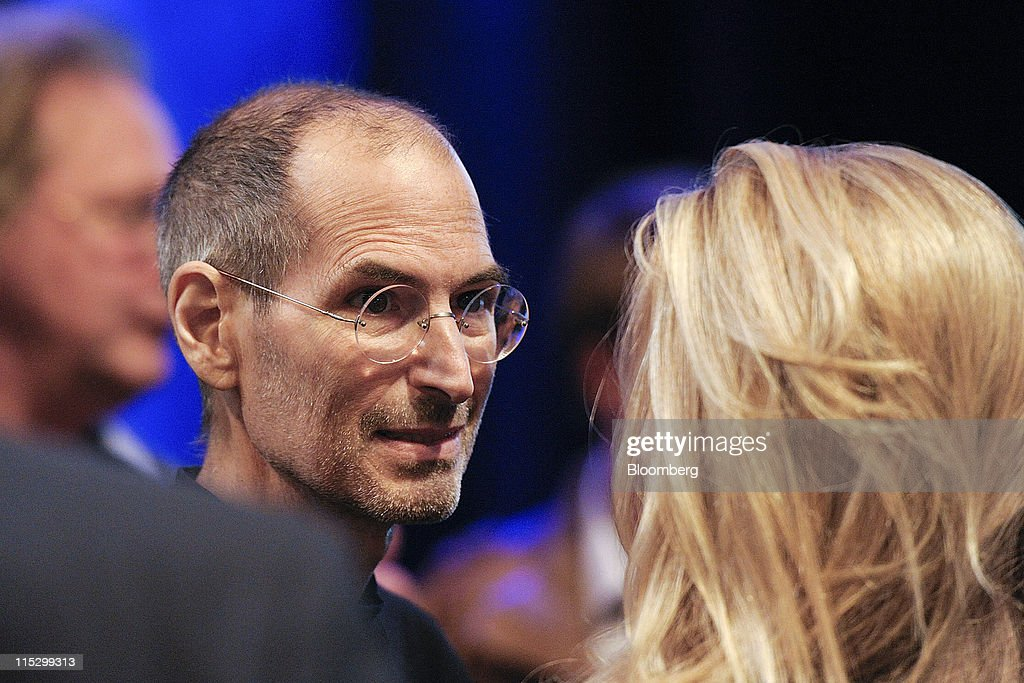 <a gi-track='captionPersonalityLinkClicked' href=/galleries/search?phrase=Steve+Jobs&family=editorial&specificpeople=204493 ng-click='$event.stopPropagation()'>Steve Jobs</a>, chief executive officer of Apple Inc., greets members of the audience after unveiling the iCloud storage system at the Apple Worldwide Developers Conference 2011 in San Francisco, California, U.S., on Monday, June 6, 2011. Apple is using iCloud to retain its dominance in the smartphone and tablet markets amid fresh competition from devices powered by Google Inc.'s Android software. Photographer: David Paul Morris/Bloomberg via Getty Images