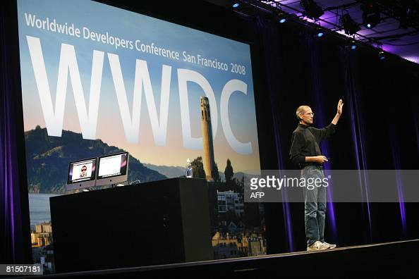 Steve Jobs chief executive officer of Apple Inc introduces the new iPhone 3G and 20 software update during the Worldwide Developers Conference in San...