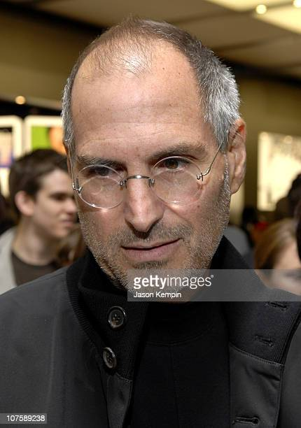 Steve Jobs during Apple Opens Flagship Store In Manhattan May 19 2006 at 5th Avenue in New York City New York