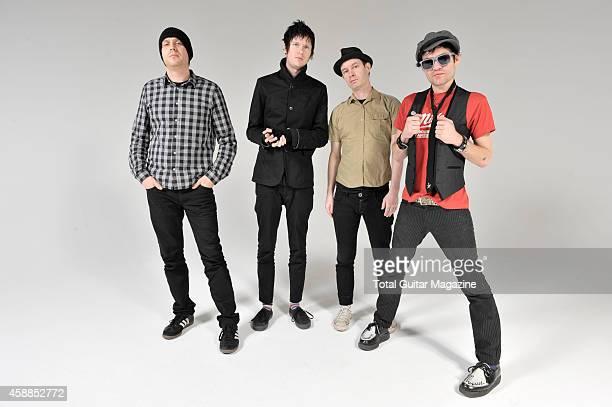 Steve Jocz Jason McCaslin Tom Thacker and Deryck Whibley of Canadian pop punk group Sum 41 taken on February 22 2011