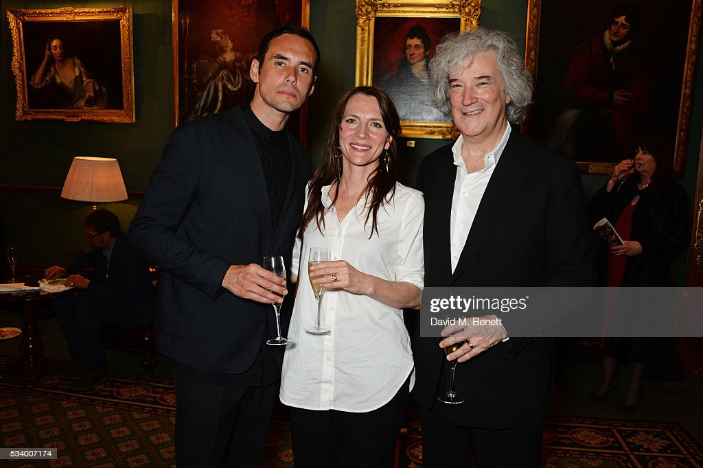 Steve John Shepherd, Anna Wilson-Jones and Karl Sydow attend the press night after party for 'A View From Islington North' at The Garrick Club on May 24, 2016 in London, England.