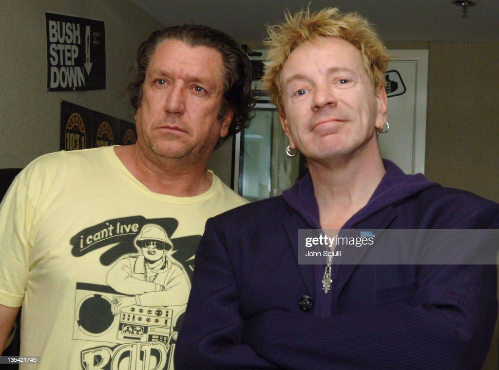 Steve Jones and John Lydon (aka Johnny Rotten) of the Sex Pistols