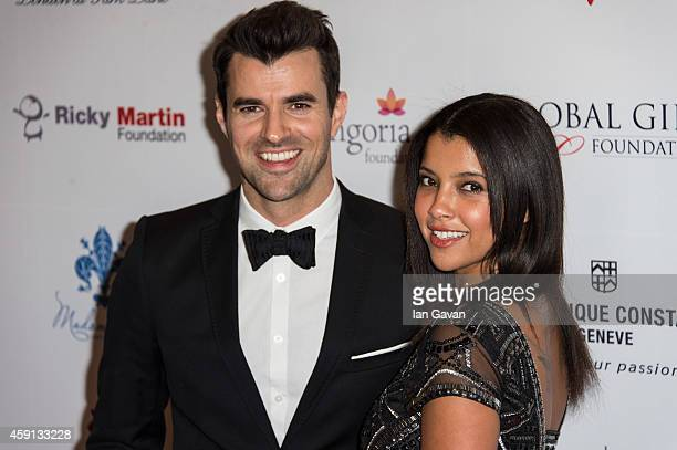 Steve Jones and Phylicia Jackson attend the 5th Global Gift Gala hosted by honorary chair Eva Longoria at the Four Seasons Hotel on November 17 2014...