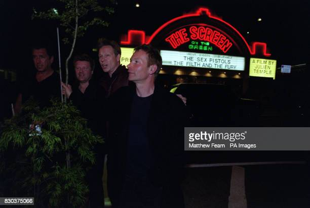 Steve Jones Dan Morrell of Future Forests Paul Cook and director Julien Temple attending the UK premiere of Julien Temple's documentary film of the...